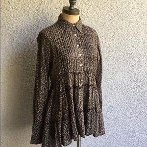 Denim & Supply Ralph Lauren floral henley blouse L